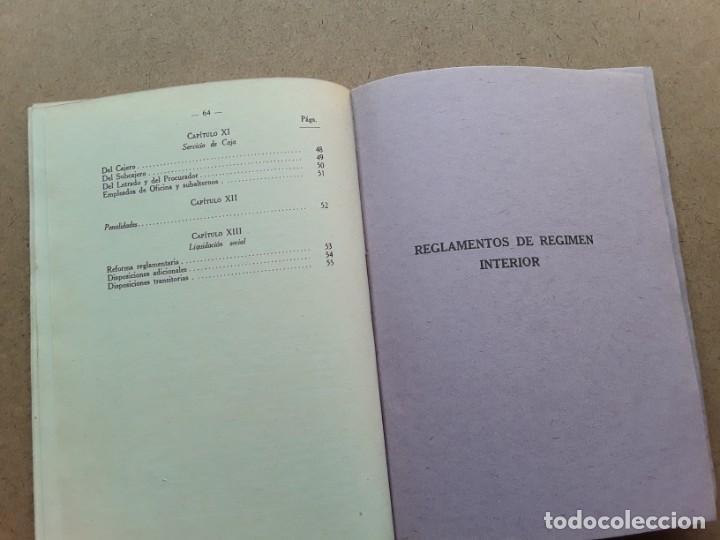 Documentos antiguos: Asociacion general de empleados y obreros de los ferrocarriles de españa reglamentos - Foto 4 - 189787545