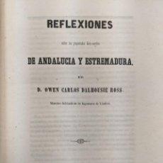 Documentos antiguos: 1858 EXTRAORDINARIO DOCUMENTO FERROCARRIL ANDALUCIA Y EXTREMADURA MAPA OWEN CARLOS DALHOUISE. Lote 189809905