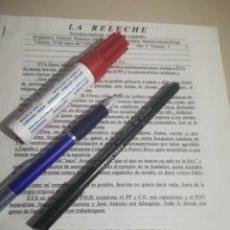 Documentos antiguos: BOLETIN LA RELECHE, AÑO 1 NUM 2 MANUEL GARCIA BORGE AÑO 2002 REF. GAR 242. Lote 190052313