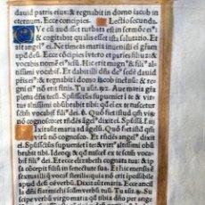 Documentos antiguos: HOJA VITELA MINIADA. Lote 190099037