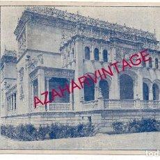 Documentos antiguos: SEVILLA, 1929, PABELLON BELLAS ARTES EXPOSICION, REVERSO PUBLICIDAD CONFITERIA, RARO. Lote 190282866
