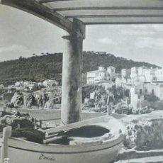 Documenti antichi: CALELLA GERONA BARRIO DE LA BARANDILLA ANTIGUA LAMINA HUECOGRABADO AÑOS 50. Lote 190300296