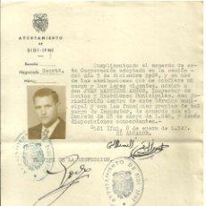 Documentos antiguos: C1. SIDI - IFNI - NOMBRAMIENTO DE INSPECTOR DEL AYUNTAMIENTO DE SIDI-IFNI - SALVOCONDUCTO-PASAPORTE. Lote 190421145