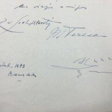 Documentos antiguos: BONITA CARTA FIRMADA POR ALBERTI Y MARIA TERESA ENVIADA AL POETA CARLOS RODRÍGUEZ PINTO. 1940. Lote 190451482