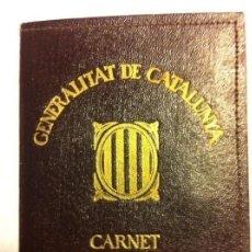 Documentos antiguos: GENERALITAT DE CATALUNYA - CARNET ELECTORAL AÑO 1935 - MUY BIEN CONSERVADO - CON FUNDA. Lote 190582195