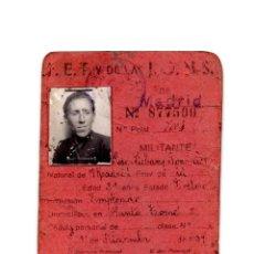 Documents Anciens: CARNET.- FALANGE ESPAÑOLA DE LAS J.O.N.S. MADRID. 1939.. Lote 190813647