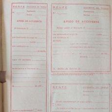 Documentos antiguos: 1950 RENFE FERROCARRILES - BLOC DE PARTES DE ACCIDENTE - RARISIMO - LA RUA DE PETIN - PONFERRADA. Lote 190842383