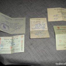 Documentos antiguos: LOTE CARNETS DE CAZA Y LICENCIA AIRE COMPRIMIDO ARMA. Lote 190845667