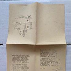 Documentos antiguos: J.V. FOIX - NADALA AÑO 1955 J.V. FOIX FIRMA AUTOGRÁFA, DIBUJO DE SUNYER. Lote 190872197