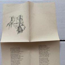 Documentos antiguos: J.V. FOIX - NADALA AÑO 1956 J.V. FOIX FIRMA AUTOGRÁFA, DIBUJO DE FRANCESC GALÍ. Lote 190872316