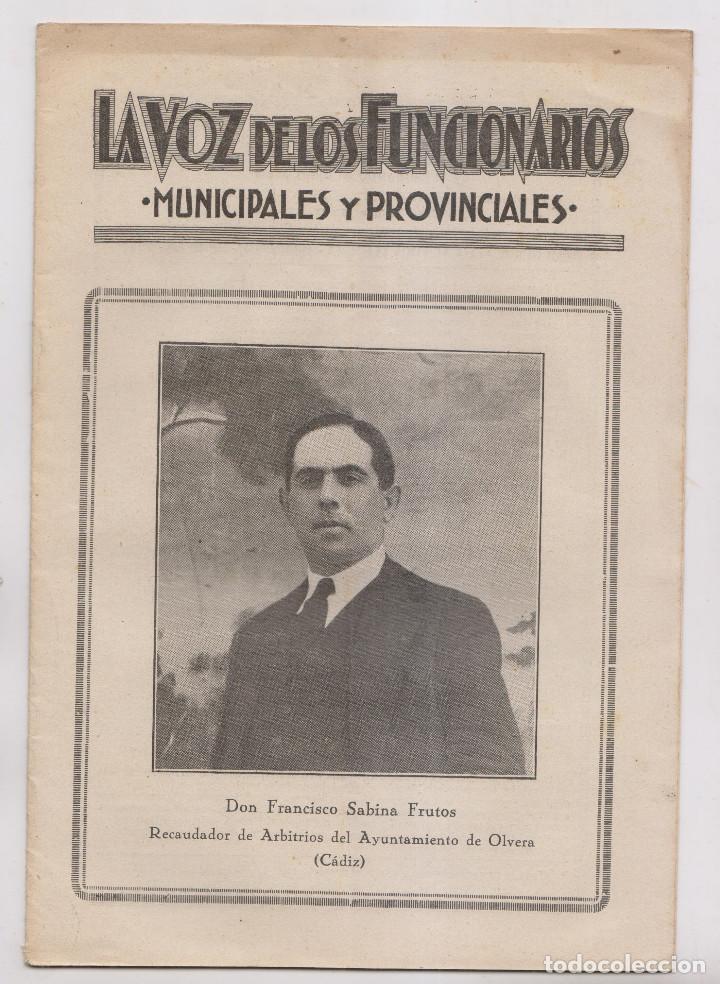 LA VOZ DE LOS FUNCIONARIOS MUNICIPALES Y PROVINCIALES. Nº 58. ABRIL 1933. DIRECTOR: PASCUAL CIVANTO (Coleccionismo - Documentos - Otros documentos)