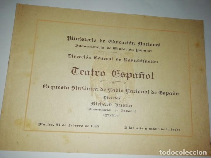 CUADERNILLO PROGRAM AORQUESTA RADIO NACIONAL DIRECTOR RICHARD AUSTIN 1948 (Coleccionismo - Documentos - Otros documentos)