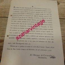Documentos antiguos: OSUNA, SEVILLA, 1803, CIRCULAR IMPARTICION DE CLASES POR EL CATEDRATICO DON ANTONIO GARCIA. Lote 191028932