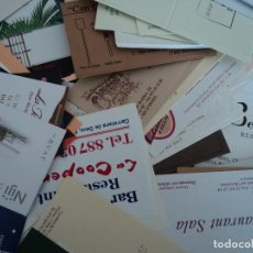 Documentos antiguos: 350 TARJETAS DE RESTAURANTES DE CATALUNYA, VARIAS REPETICIONES PESO 600 GRAMOS. Lote 191147351