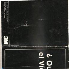 Documentos antiguos: 899. ¿QUE ES EL VIDEO? (AÑO 1982). Lote 191387983