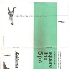 Documentos antiguos: 903. CATALOGO FRIGORIFICO KELVINATOR. Lote 191389558