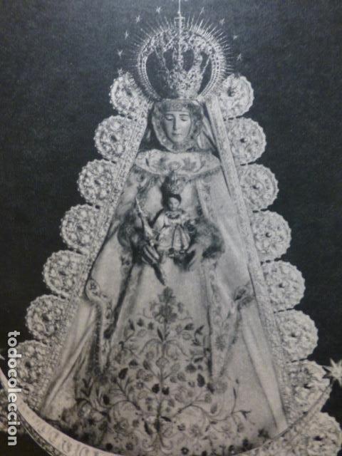 EL ROCIO HUELVA VIRGEN DEL ROCIO ANTIGUA LAMINA HUECOGRABADO (Coleccionismo - Documentos - Otros documentos)