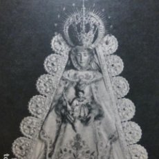 Documentos antiguos: EL ROCIO HUELVA VIRGEN DEL ROCIO ANTIGUA LAMINA HUECOGRABADO. Lote 211668173
