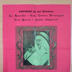 Documentos antiguos: FIESTA MAYOR DE 1960, EMPRESA DE LOS CINEMAS, AUDREY HEPBURN . Lote 191600696