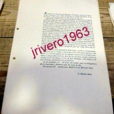 Documentos antiguos: MADRID, 1834, ORDEN DE LA REINA DEBER DE INFORMAR LOS PARROCOS SOBRE ASUNTOS DE CONTRABANDO FELIGRES. Lote 191759598