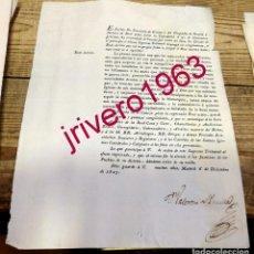 Documentos antiguos: 1827, REAL DECRETO PARA QUE SE CANTE UN TE DEUM EN TODAS LAS IGLESIAS POR FIN DE LA GUERRA CIVIL. Lote 191812836