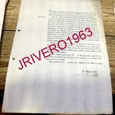 Documentos antiguos: 1830, REAL ORDEN LEVANTAMIENTO PROHIBICION ENTRADA Y CIRCULACION PERIODICO FRANCES QUOTIDIENNE. Lote 191813258