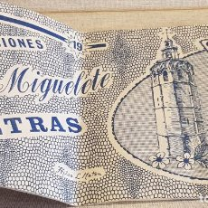 Documentos antiguos: CUADERNO DE LETRAS / EDICIONES EL MIGUELETE - VALENCIA / AÑOS 60 / DOBLADO POR LA MITAD. Lote 191997841
