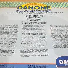 Documentos antiguos: DANONE !! PUBLICIDAD CONCIERTO DANONE PARA CUCHARA Y YOGHOURT / AÑO 1985 / PEQUEÑO DOBLEZ.. Lote 192001458