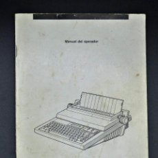 Documentos antiguos: MANUAL DEL OPERADOR OLIVETTI HERMES ER 300 MANUAL / INSTRUCCIONES. Lote 192145315