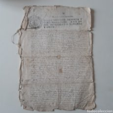 Documentos antiguos: DOCUMENTO SUSCRITO EN LUGO. SELLO FISCAL. SELLO TERCERO, SETENTA Y OCHO MARAVEDIS. 1787. HERENCIA. Lote 192146283