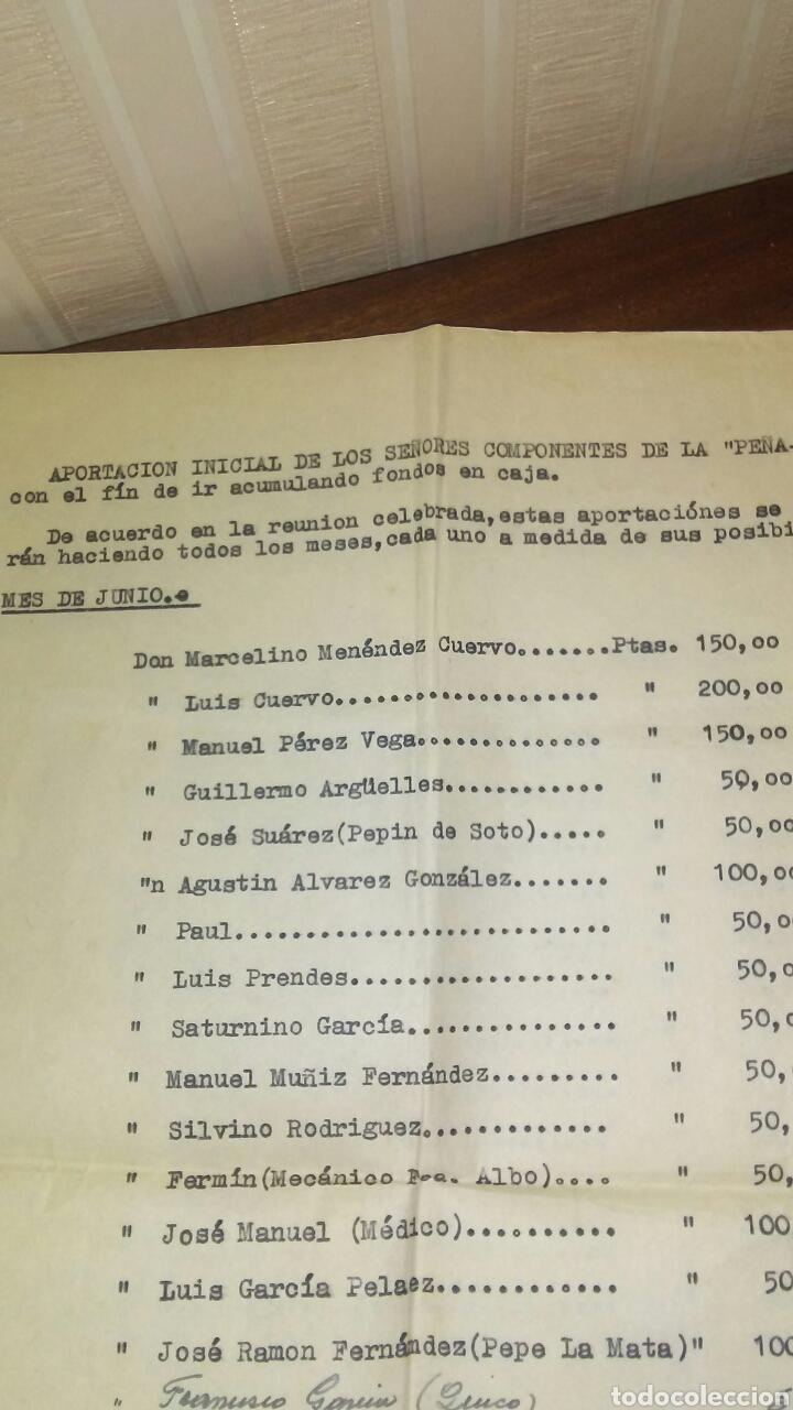 Documentos antiguos: Antiguas hojas de relacion de cuentas peña furada de Candas año 1959(leer la descripcion completa) - Foto 3 - 192450790