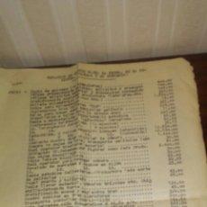 Documentos antiguos: HOJAS DE RELACION DE GASTOS DE LA PELICULA CANDAS Y SU CONCEJO AÑO 1958(LEER DESCRIPCION COMPLETA). Lote 192451806