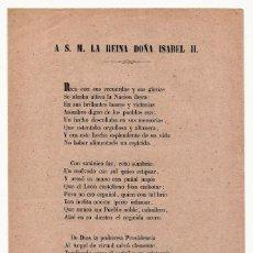 Documentos antiguos: LIBELO, JOSE ANTONIO DE BALENCHANA, ISABEL II, A S.M. LA REINA. Lote 192568398