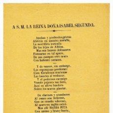 Documentos antiguos: LIBELO, A S.M. LA REINA DOÑA ISABEL SEGUNDA, ISABEL II, CORUÑA, IMP. DE PUGA, 1858. Lote 192569700