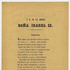 Documentos antiguos: LIBELO, RAMON DE VALLADARES SAAVEDRA, ISABEL II, A S.M. LA REINA DOÑA ISABEL SEGUNDA. Lote 192570616