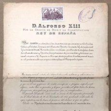 Documentos antiguos: FIRMA REAL ALFONSO XIII NOMBRANDO AL MARQUES DE VILLASINDA MINISTRO PLENIPOTENCIARIO. AÑO 1910. Lote 192983398