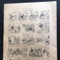 Documentos antiguos: AUCA / ALELUYA - LA BROCHA VENGATIVA - SEMANA POPULAR ILUSTRADA - ILUSTRA H. SCHULER , CHM. 40,5X28. Lote 193002962
