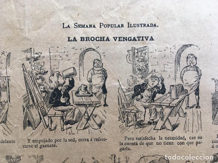 Documentos antiguos: AUCA / ALELUYA - LA BROCHA VENGATIVA - SEMANA POPULAR ILUSTRADA - ILUSTRA H. SCHULER , chm. 40,5x28 - Foto 2 - 193002962