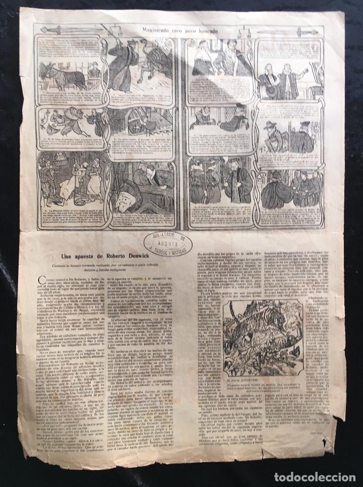 Documentos antiguos: AUCA / ALELUYA - CUÉNTANSE LOS ATENTADOS DE DOS HOMBRES MUY MALVADOS - 5 cts. - Revista EL AMIGO - Foto 4 - 193004438