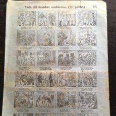 Documentos antiguos: AUCA / ALELUYA - VIDA DEL HOMBRE AMBICIOSO (2ª PARTE) - 24 - BOSCH - BARCELONA - 42,5X29,5CM. Lote 193028953