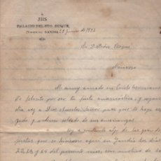 Documentos antigos: CARTA MANUSCRITA A MANRESA DE JHS PALACIO DEL SANTISIMO DUQE VALENCIA GANDIA 1922. Lote 193074643