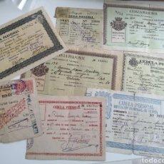 Documentos antiguos: CEDULAS PERSONALES. LOTE 8 CEDULAS, VARIADAS, DISTINTAS LOCALIDADES. POST GUERRA CIVIL, AÑOS 40. Lote 193088268