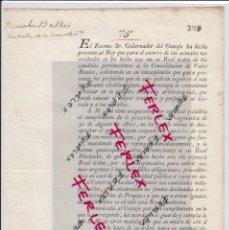 Documentos antiguos: REAL ORDEN.DOCUMENTO FECHADO EN MADRID EN 1804.. Lote 193179718