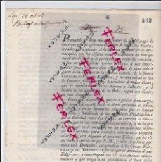 Documentos antiguos: REAL ORDEN.DOCUMENTO FECHADO EN MADRID EN 1801.. Lote 193180578