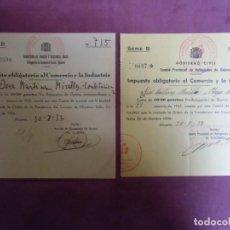 Documentos antigos: GUERRA CIVIL.ALICANTE 1937.COMITE PROVINCIAL REFUGIADOS DE GUERRA.DELEGACION DE ASISTENCIA SOCIAL.. Lote 193234126