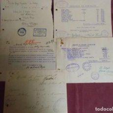 Documentos antigos: GUERRA CIVIL.ALCOY(ALICANTE)DOCUMENTOS SINDICATOS VARIOS:TEXTIL,BANCA,METAL,ALBAÑILES,ETC..1936FINAL. Lote 193234231