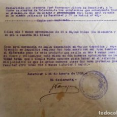 Documentos antigos: GUERRA CIVIL.VALENCIA.AYUNTAMIENTO POPULAR,BENETUSER A 24 DE AGOSTO DE 1936.. Lote 193234560
