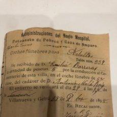 Documentos antiguos: RECIBO. Lote 193292041