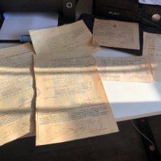 Documentos antiguos: DOCUMENTOS ANTIGUOS. Lote 193925321