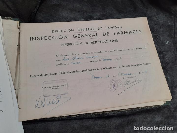 Documentos antiguos: LIBRO OFICIAL DE CONTABILIDAD DE ESTUPEFACIENTES FARMACIA AÑOS 90 - Foto 3 - 193974358